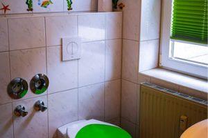Bad vom 1-Raum-Appartement in Binz auf der Insel Rügen