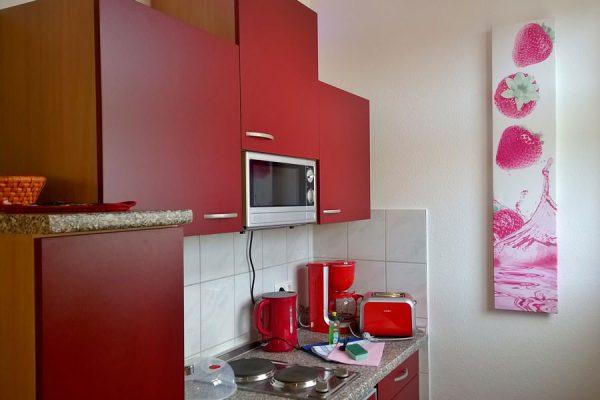 1-Raum-Apartment mit Küche in Binz auf der Insel Rügen