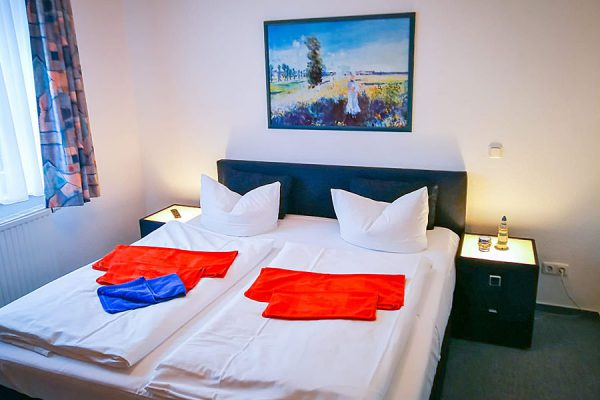 Schlafzimmer vom 3-Raum-Plus-Appartement in Binz auf Rügen