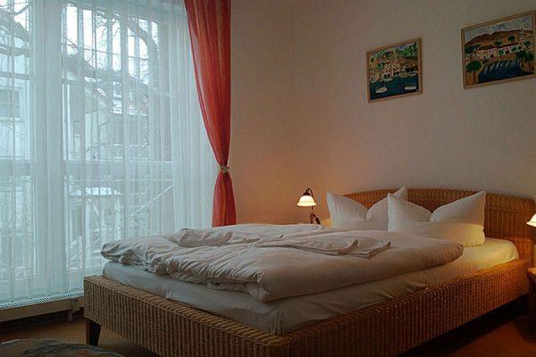 Schlafzimmer 3-Raum-Ferienwohnungen im Feriendomizil Binz auf Rügen