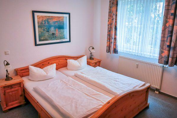 Schlafzimmer 3-Raum-Appartement im Feriendomizil Binz auf Rügen