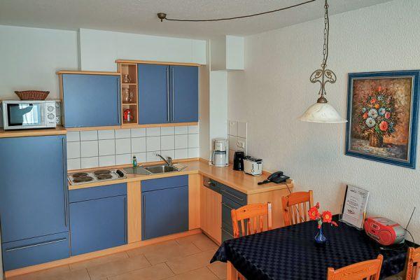Küche 3-Raum-Appartements vom Feriendomizil Binz auf Rügen