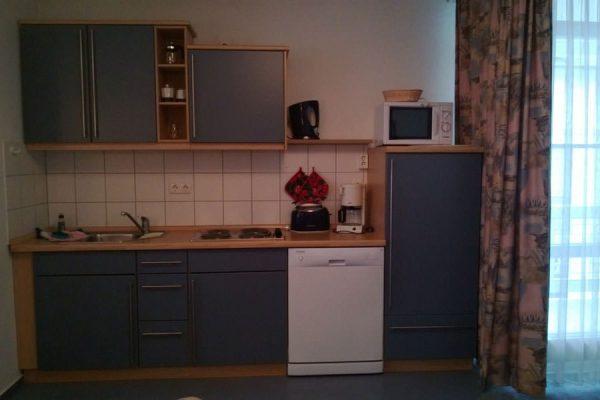 Küche vom 3-Raum-Appartement auf Rügen im Feriendomizil Binz