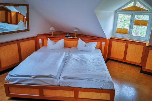 Schlafzimmer vom 3-Raum-Appartement in Binz auf Rügen