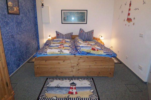 Schlafzimmer 3-Raum-Apartment im Feriendomizil Binz auf Rügen