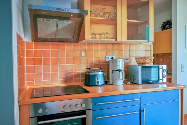 Küchenzeile 3-Raum-Apartment im Feriendomizil Binz auf Rügen