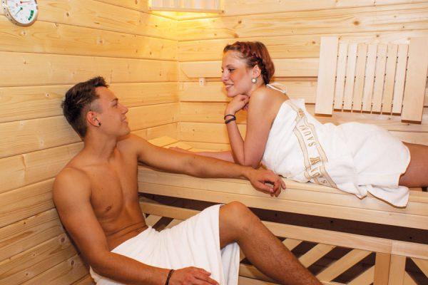 Sauna im Feriendomizil Binz auf Rügen