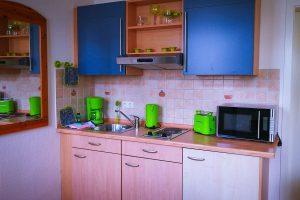 Küche vom 1-Raum-Apartment in Binz auf Rügen